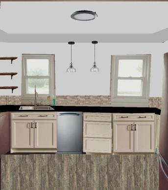 Kitchen After Rendering